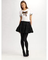 RED Valentino | Black Tiered Ruffle Skirt | Lyst
