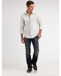 Royal Underground | White Inverse-pintuck Sportshirt for Men | Lyst