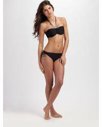 Shoshanna | Black Tied Bikini Bottom | Lyst