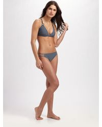 Shoshanna | Gray Multi-string Bikini Bottom | Lyst