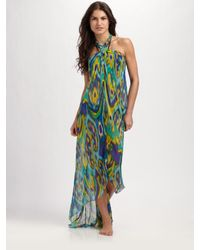 Shoshanna | Multicolor Silk Sarong Coverup | Lyst