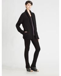 T By Alexander Wang | Black Grandpa Cardigan | Lyst