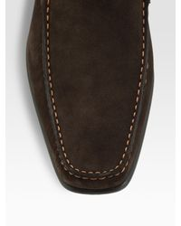 To Boot - Brown Suede Loafers for Men - Lyst