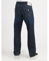 True Religion - Blue Point Guard Straight-leg Jeans for Men - Lyst