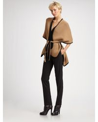 TSE | Natural Two-tone Belted Cape | Lyst