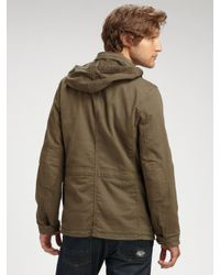 Vince | Green Broken Twill Army Coat for Men | Lyst