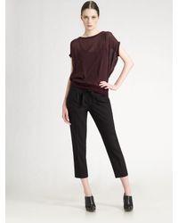 VINCE | Black Tie-waist Cropped Pants | Lyst