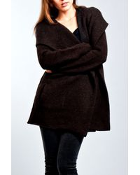 VINCE | Black Blanket Sweater with Hood in Godvia | Lyst