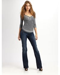 7 For All Mankind | Blue Amber Bootcut Jeans | Lyst