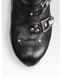 Alexander McQueen - Black Buckle Ski Boot - Lyst