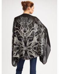 Alexander McQueen - Black Tree Print Silk Cape - Lyst