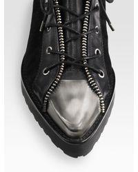 Alexander Wang   Black Mirte Lace-up Sock Boots   Lyst