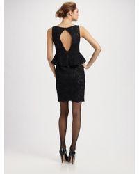 Alice + Olivia - Black Josephine Lace Peplum Dress - Lyst