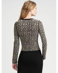Armani - Black Pebbled Cutaway Knit Jacket - Lyst