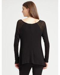 BCBGMAXAZRIA - Black Jersey Knit Sweater - Lyst