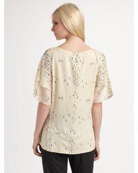 Brian Reyes   Natural Silk Print Blouse   Lyst