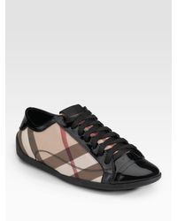 Burberry - Black Sneakers - Lyst