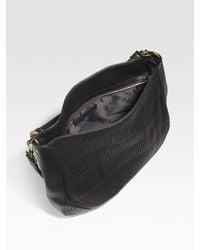Burberry - Black Plissé Leather Hobo - Lyst