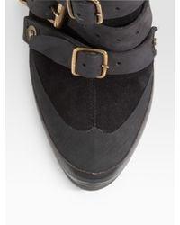 Burberry | Black Ruched V-neck Top | Lyst