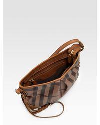Burberry - Brown Smoke Check Crossbody Bag - Lyst