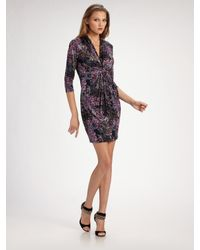 Catherine Malandrino | Purple Knotted Silk Jersey Dress | Lyst