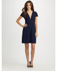 Catherine Malandrino | Blue Silk Chiffon Dress | Lyst