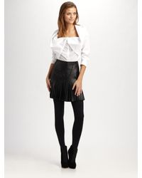 Catherine Malandrino - White Fold-over Collar Top - Lyst
