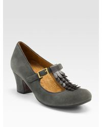 Chie Mihara | Gray T-strap Mary Janes | Lyst