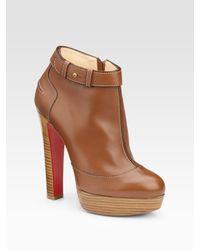 Christian Louboutin | Brown Et Dun Plato Ankle Boots | Lyst