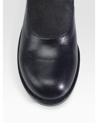 Comme des Garçons - Black Reversed Leather and Suede Loafers - Lyst