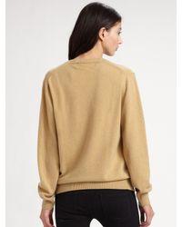 Comme des Garçons - Natural Wool V-neck Sweater - Lyst