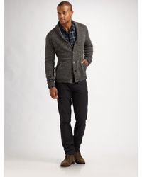 Converse - Gray Marled Shawl-collar Cardigan for Men - Lyst