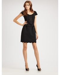 Dior | Black Short Sleeve Dress | Lyst