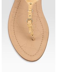 Dior | Natural Sweet Patent Leather Thong Sandals | Lyst