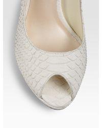 Dior - White Piqué Belted Dress - Lyst