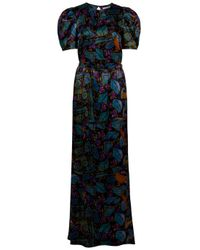 Erdem | Black Cosway Full Length Puff Sleeve Dress | Lyst