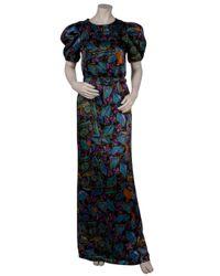 Erdem - Black Cosway Full Length Puff Sleeve Dress - Lyst