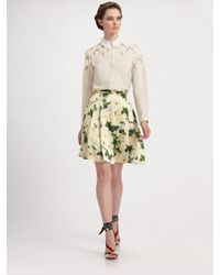 Erdem | Natural Wendy Laser Cut Embroidered Blouse | Lyst