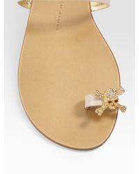 Giuseppe Zanotti   Natural Jeweled Toe-ring Sandals   Lyst
