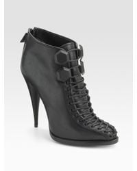 Givenchy - Black Lace-up Ankle Boot - Lyst