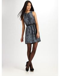 Gryphon | Blue Silk Animal-print Dress | Lyst