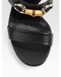 Gucci - Black Miss Bamboo Sandals - Lyst