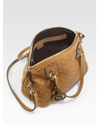 Gucci - Brown Charm Medium Top Handle Bag - Lyst