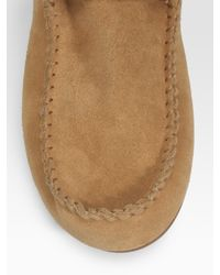 House of Harlow 1960   Brown Suede Lace-up Mocassin Boots   Lyst