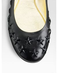 Jimmy Choo - Black Western Star Studded Ballet Flats - Lyst