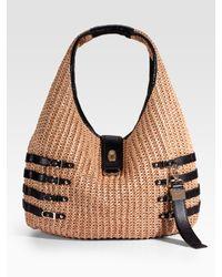 Jimmy Choo | Natural Bali Woven Raffia Hobo Bag | Lyst