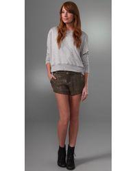 Joie - Metallic Finch Silk & Sequin Shorts - Lyst