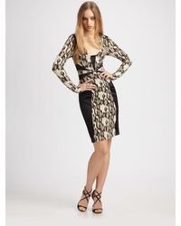 Just Cavalli | Black Python-print Dress | Lyst