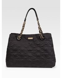 kate spade new york | Black Maryanne Quilted Nylon Shoulder Bag | Lyst