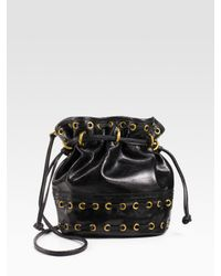 Kooba | Black Leather Drawstring Mini Bag | Lyst